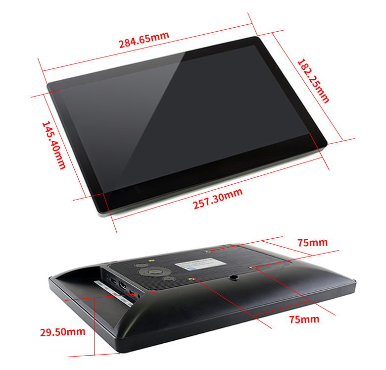 11.6inch-HDMI-LCD-H-with-Holder-dimension