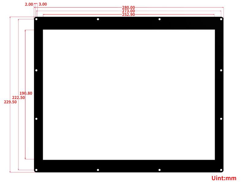 12.48inch e-Paper Module (B) dimensions