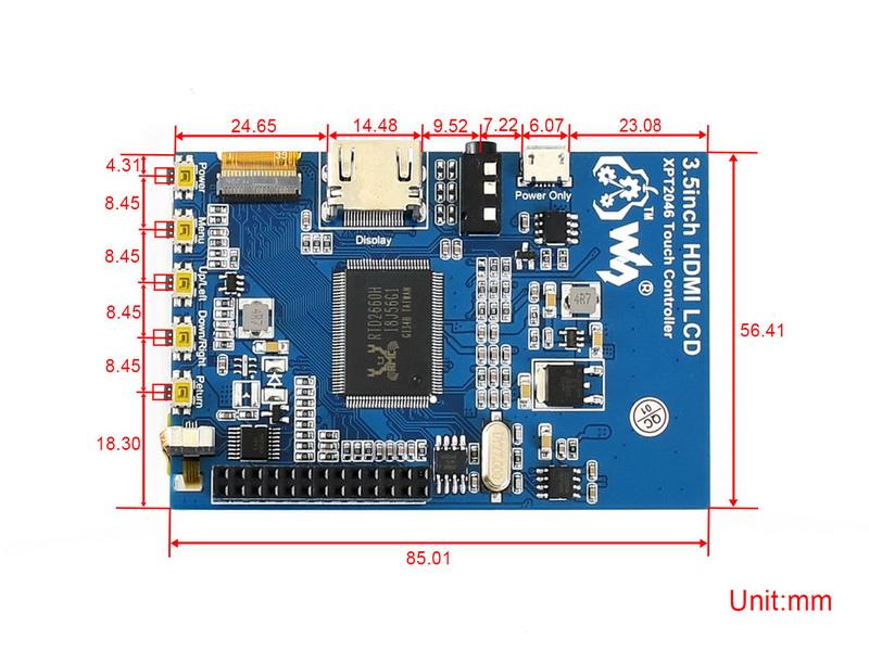 3.5inch-HDMI-LCD-dimension