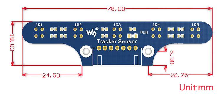 Tracker Sensor dimensions