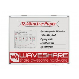 1304×984, 12.48inch E-Ink raw display, red/black/white three-color