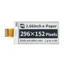 296×152, 2.66inch e-Paper E-Ink Raw Display Panel, Black / White