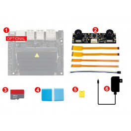 Jetson Nano  Development Pack (Type D), with Binocular Camera, TF Card