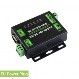 Industrial RS232/RS485 to Ethernet Converter for EU