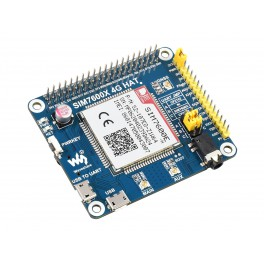 SIM7600E-H 4G HAT for Raspberry Pi, LTE Cat-4 4G / 3G / 2G, GNSS, for Europe, Southeast Asia, West Asia, Africa