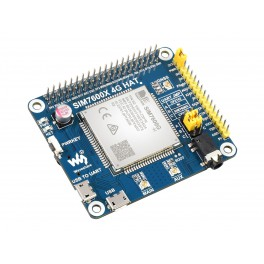 SIM7600G-H 4G HAT For Raspberry Pi, LTE Cat-4 4G / 3G / 2G Support, GNSS Positioning, Global Band