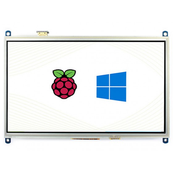 10.1inch Resistive Touch Screen LCD, 1024×600, HDMI, IPS, Supports Raspberry Pi / PC