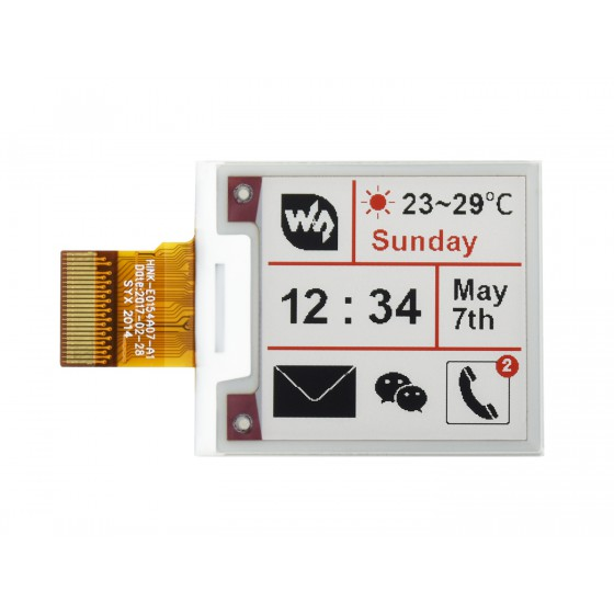 200x200, 1.54inch E-Ink raw display panel, three-color