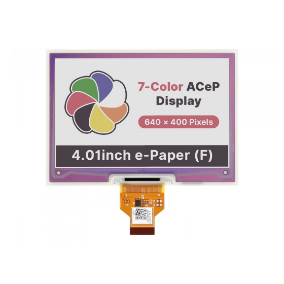 4.01inch ACeP 7-Color E-Paper E-Ink Raw Display, 640×400, without PCB