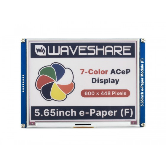 5.65inch ACeP 7-Color E-Paper E-Ink Display Module, 600×448 Pixels