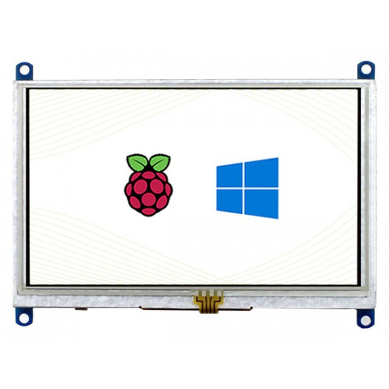 5inch Resistive Touch Screen LCD (B), 800×480, HDMI, Low Power Consumption