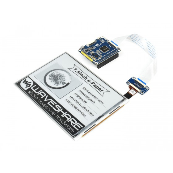 1872×1404, 7.8inch E-Ink display HAT for Raspberry Pi