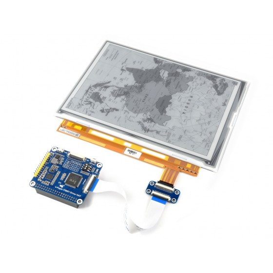 1200x825, 9.7inch E-Ink display HAT for Raspberry Pi