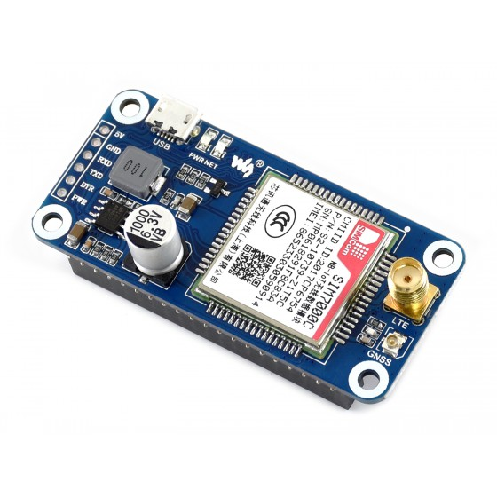 NB-IoT / eMTC / EDGE / GPRS / GNSS HAT for Raspberry Pi, for Asia-Pacific region