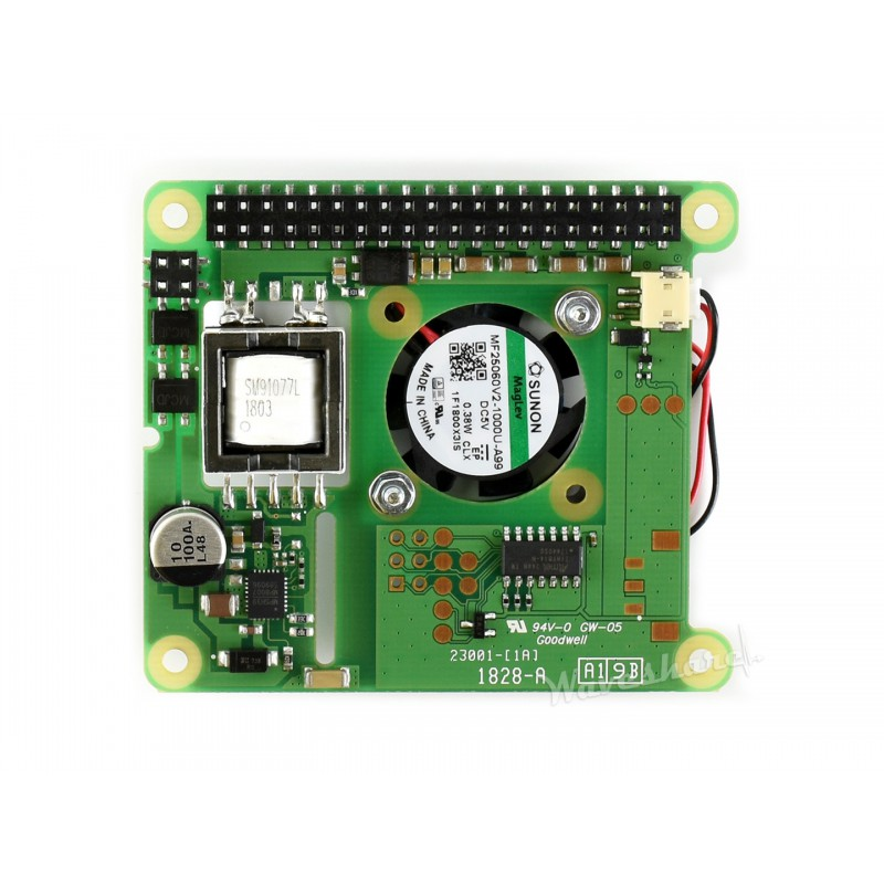 B for Raspberry Pi 3B+//4B,802.3af Compliant Power Over Ethernet Accessory Power Sourcing Equipments Needed Power over Ethernet HAT