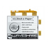 13.3inch e-Paper e-Ink Raw Display, 1600×1200, Black / White, 16 Grey Scales, Parallel Port, Without PCB