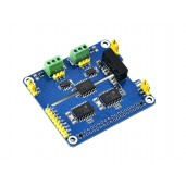 2-Channel Isolated CAN Expansion HAT for Raspberry Pi, Dual Chips Solution