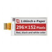 2.66inch E-Paper (B) E-Ink Raw Display, 296×152, Red / Black / White, SPI, Without PCB