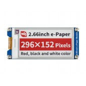 2.66inch E-Paper E-Ink Display Module (B), 296×152, Red / Black / White, SPI