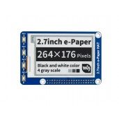 264x176, 2.7inch E-Ink display HAT for Raspberry Pi