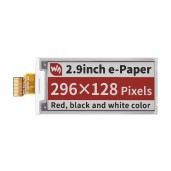 2.9inch E-Paper (B) E-Ink Raw Display, 296×128, Red / Black / White, SPI, without PCB