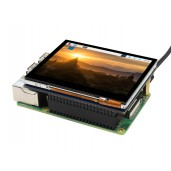 3.5inch Capacitive Touch Screen LCD For Raspberry Pi, 640×480, DPI, IPS, Toughened Glass Cover, Low Power
