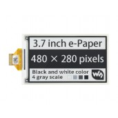 3.7inch e-Paper e-Ink Raw Display, 480×280, Black / White, 4 Grey Scales, SPI, Without PCB