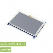 5inch HDMI LCD (G), 800x480, supports various systems, resistive touch