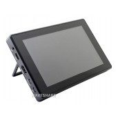 7inch Capacitive Touch Screen LCD (H) with Case, 1024×600, HDMI, IPS, Various Systems Support