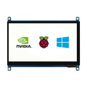 7inch QLED Quantum Dot Display, Capacitive Touch, 1024×600, G+G Toughened Glass Panel, Various Systems Support