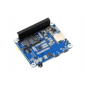 A7600E LTE Cat-1 HAT for Raspberry Pi, Low Speed 4G Module, 2G GSM / GPRS, for Southeast Asia, West Asia, Europe, Africa