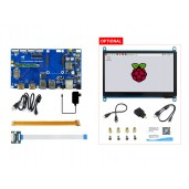 "Raspberry Pi Compute Module 4 Dev Kit, with Waveshare PoE Board and Optional 7"" Touchscreen"