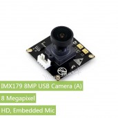 IMX179 8MP USB Camera (A), HD, Embedded Mic