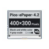4.2inch E-Paper E-Ink Display Module for Raspberry Pi Pico, 400×300, Black / White, 4 Grayscale, SPI