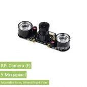 RPi Camera (F), Supports Night Vision, Adjustable-Focus