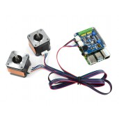 Stepper Motor HAT for Raspberry Pi, Drives Two Stepper Motors