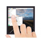 4inch Square Capacitive Touch Screen LCD (C) for Raspberry Pi, 720×720, DPI, IPS, Toughened Glass Cover, Low Power