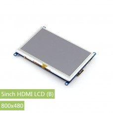 5inch HDMI LCD (B), 800×480, supports various systems